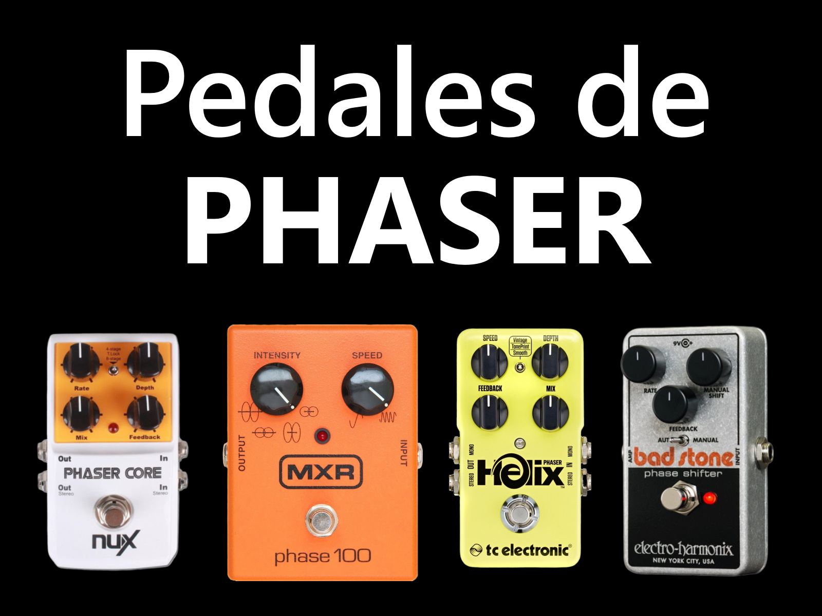 pedales phaser guitarra